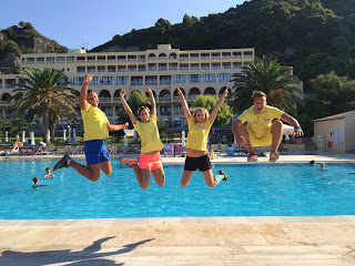 Animation team of LtI Louis Grand Hotel, Glyfada Beach, Corfu, Greece