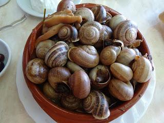 Eating snails en Es Cruce near Manacor, Mallorca