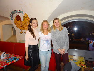With the girls in Budapest, Hungary