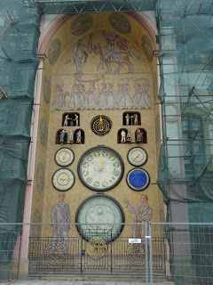 Astronomical clock in Olomouc, Czech Republic