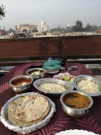 Dinner with Taj Mahal view