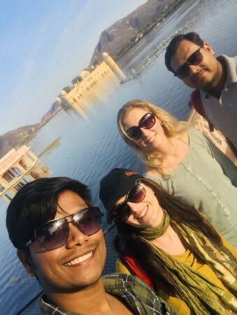 At Jal Mahal in Jaipur